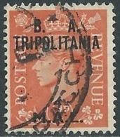 1950 OCCUPAZIONE BRITANNICA TRIPOLITANIA BA USATO 4 MAL - RB39-10 - Tripolitania