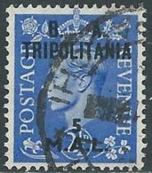 1950 OCCUPAZIONE BRITANNICA TRIPOLITANIA BA USATO 5 MAL - RB39 - Tripolitania
