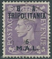 1950 OCCUPAZIONE BRITANNICA TRIPOLITANIA BA USATO 6 MAL - RB39 - Tripolitania