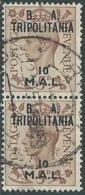 1950 OCCUPAZIONE BRITANNICA TRIPOLITANIA BA USATO 10 MAL COPPIA - RB38-10 - Tripolitania