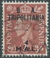 1951 OCCUPAZIONE BRITANNICA TRIPOLITANIA BA USATO 4 MAL - RB39-10 - Tripolitania