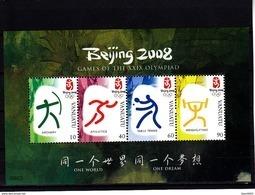 Olympics 2008 - Table Tennis - VANUTA - S/S MNH - Ete 2008: Pékin