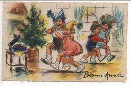 Petite Carte De Bonne Année Signée Germaine Bouret - Bouret, Germaine