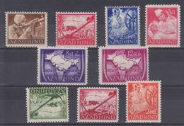 Dt.Bes.2.WK Nationales Indien MiNr. IA-VIA + VIIIA-XA ** - Ocupación 1938 – 45