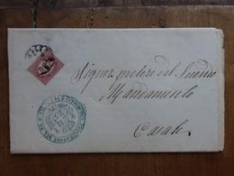 REGNO - Circolare Affrancata Con 0,02 C. - Servizio Di Stato + Spese Postali - 1861-78 Vittorio Emanuele II