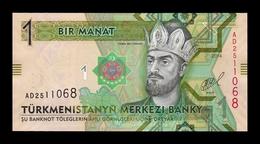Turkmenistan 1 Manat 2014 Pick 29b SC UNC - Turkmenistán