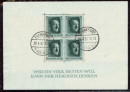 P0979 - DR Block 7 Mit Adolf Hitler Geburtstag Stempel: Gebraucht 20.4.1937 Frankfurt. - Lettres & Documents