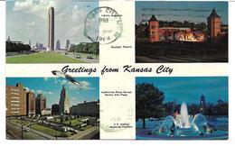 4180p: AK USA 1964, Liberty Memorial Und Andere, Gelaufen Nach Schweden - Kansas City – Kansas