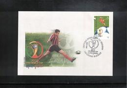Macedonia 2002 World Football Cup South Korea + Japan FDC - Copa Mundial