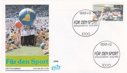 Germany 1990 FDC Cover: : Sport 20 Jahre Trimm Aktion - Stamps
