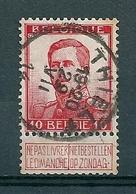 118 Gestempeld  THIELT - COBA 4 Euro - 1912 Pellens