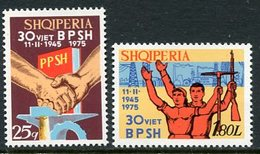 ALBANIA 1975 Trades Union Anniversary MNH / **.  Michel 1755-56 - Albanien