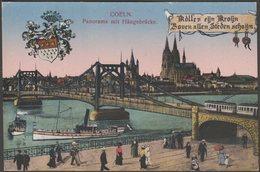 Panorama Mit Hängebrücke, Coeln, C.1910s - Worringen AK - Koeln