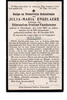 Elverdinge Engelaere Vandamme 1907 - 1919 - Vecchi Documenti