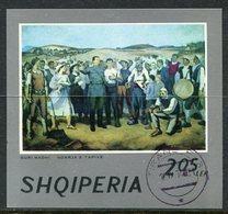 ALBANIA 1974 National Paintings Block Used .  Michel Block 53 - Albanien