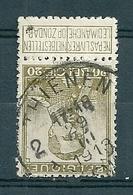112 Gestempeld  THIENEN - TIRLEMONT 2 - COBA 4 Euro - 1912 Pellens