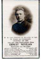 Izegem Menen Zandvoorde Wulpen PASTOOR Nevejan 1875 - 1933 - Vecchi Documenti