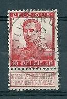 111 Gestempeld  VILVOORDE - COBA 7 Euro - 1912 Pellens