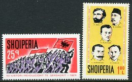 ALBANIA 1974 Revolution Of 1924 MNH / ** .  Michel 1705-06 - Albanie