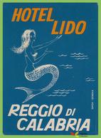 Voyo HOTEL LIDO Reggio Di Calabria Italy  Hotel Label 1960s Vintage SAIGA - Hotel Labels