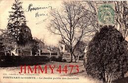CPA - FONTENAY LE COMTE 85 Vendée - Le Jardin Public Des Jacobins En 1906 - N° 1554 - Coll. A. Robin - Fontenay Le Comte