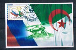 Carte Maximum 2012 Coopération Militaire,La Russie /Algérie / Hélicoptères - Helicópteros