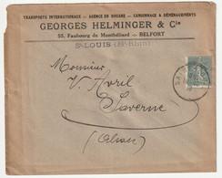 Frankreich France 1903 Yvert 130 2x Als Einzelfrankaturen Auf Brief, Michel 109, France 130 X2 Seule Sur Lettre - 1903-60 Säerin, Untergrund Schraffiert
