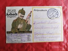 Soldat Pickelhaube Werbung Asbach Cognac - Cachet 1916 SANCT AVOLD - WW1 - Weltkrieg 1914-18