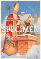 Sinterklaas En Zwarte Piet Aan De Schoorsteen - Saint-Nicolas