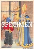 Sinterklaas En Zwarte Piet Aan Het Raam - Saint-Nicolas