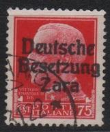 1943 Occupazione Tedesca Zara 75 C.  US - Occup. Tedesca: Zara