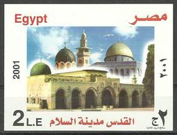 Egypt - 2001 - S/S - ( Jerusalem, City Of Peace ) - MNH (**) - Palestine
