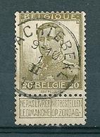 112 Gestempeld  WACHTEBEKE - COBA 8 Euro - 1912 Pellens