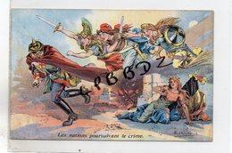 CPA - MILITARIA - Illustrateur Dufresne - Les Nations Poursuivant Le Crime - Pas Courante - Guerre 1914-1918 - - Guerre 1914-18