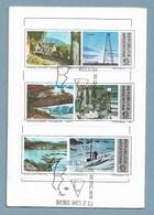 K2A - Argentine - Notice Philatélique 1er Jour 20 DIC.1975- PO1035/36/37  - Parc / Glacier / Terre De Feu - - Argentinien