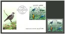 Egypt - 2001 - FDC & Stamps - ( Feasts - Birds - Parrot, Sea Gulls ) - Block Of 4 - MNH (**) - Cartas
