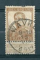 113 Gestempeld  WAVRE - COBA 4 Euro (zie Opm) - 1912 Pellens