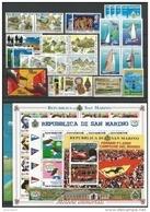 SAN MARINO - 2001 - Annata Completa - 30 Valori + 4 BF - Year Complete ** MNH/VF - Annate Complete