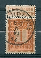 108 Gestempeld  WENDUYNE - COBA 4 Euro - 1912 Pellens