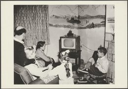 The Lancaster Family Watching Television In 1957 - NMPFT Postcard - Museum