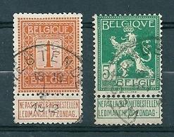 108 + 110 Gestempeld  WESTENDE - COBA 8 Euro (zie Opm) - 1912 Pellens