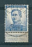125 Gestempeld  WESTENDE - COBA 4 Euro - 1912 Pellens