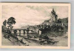 42782288 Diez Lahn Schloss 1840 Kuenstlerkarte Georg Barnard Freiendiez - Diez