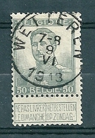115 Gestempeld  WETTEREN - COBA 4 Euro - 1912 Pellens