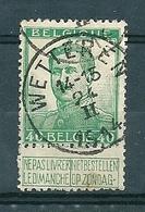 112 Gestempeld  WETTEREN - COBA 4 Euro - 1912 Pellens