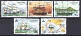 Guernsey, Yv 412/16, Navigation à Voiles.Le Trois-mâts Golden Spur ** - Guernesey