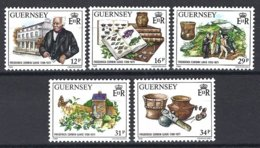 Guernsey, Yv 423/7, Frederick Corbin Lukis, Archéologue ** - Guernesey