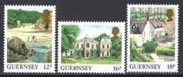 Guernsey, Yv 417/18 +450 Série Courante, Vues De L'île ** - Guernesey