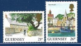 Guernsey, Yv 518/19,série Courante, Vues De L'île ** - Guernesey