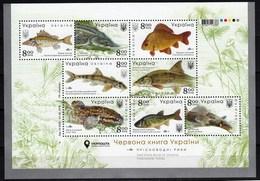 Ukraine 2019 Fauna Freshwater Fishes Minisheet MNH - Pesci